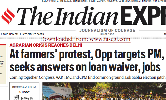 The Indian Express ePaper Download 1st December 2018