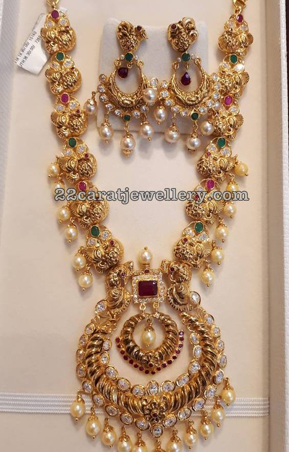 Peacock Nakash Necklace by Sri Mahalaxmi Jewellers