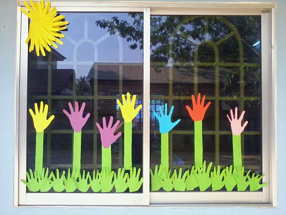Classroom Window Decoration