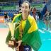 Atleta de Sinop é campeã sul-americana com a seleção brasileira de vôlei