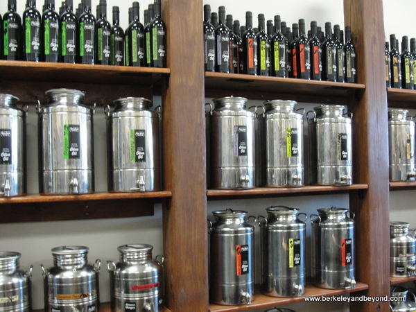 vinegars and olive oils at Red Stick Spice Co. in Baton Rouge, Louisiana