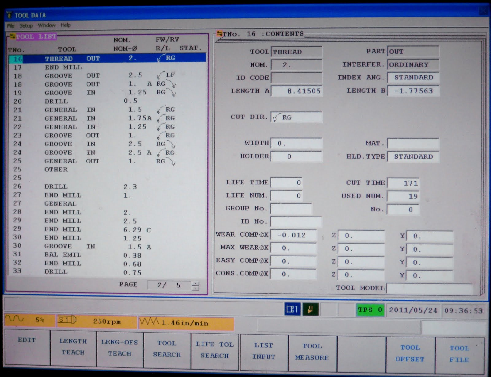 How to select tool data in Mazak Matrix Machine ~ CNC Programming