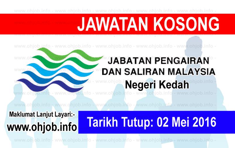 Jawatan Kerja Kosong Jabatan Pengairan dan Saliran Negeri Kedah logo www.ohjob.info mei kedah