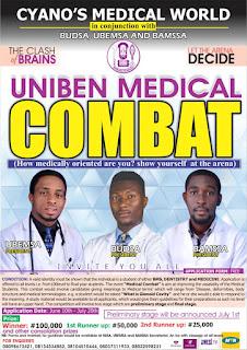 EXCLUSIVE! UNIBEN MEDICAL COMBAT : AVENUE TO SHOWCASE TALENTS AMONG MEDICAL STUDENTS
