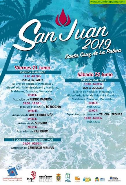 Programa de actividades San Juan 2019 del Casco Histórico de Santa Cruz de La Palma