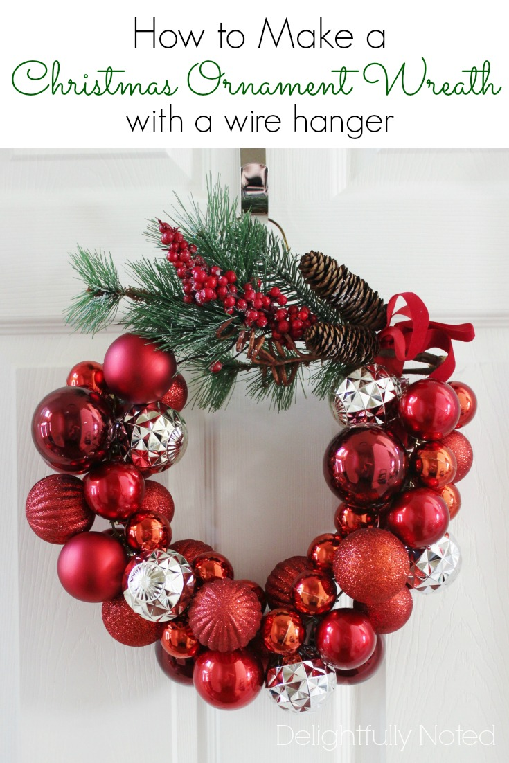 Christmas Pinterest DIY: Wire Hanger Wreath | Essential Twenty