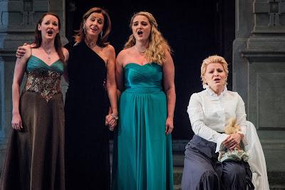 SWAP'ra gala at Opera Holland Park - Mark Adamo: Little Women - Lucy Schaufer, Rebecca Caine, Jennifer France, Beth Moxon - (Photo Robert Workman)