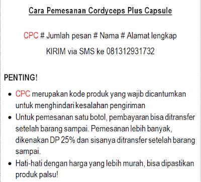 cara pemesanan cordyceps plus capsule