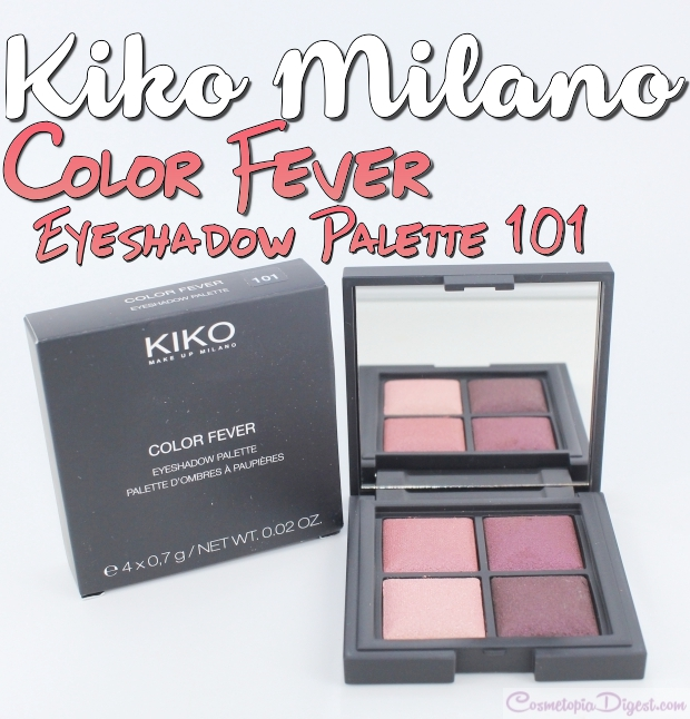 Review and swatches of the Kiko Milano Color Fever Baked Eyeshadow Palette 101 - Coral Burgundy - and an eye makeup look I did with the shades.