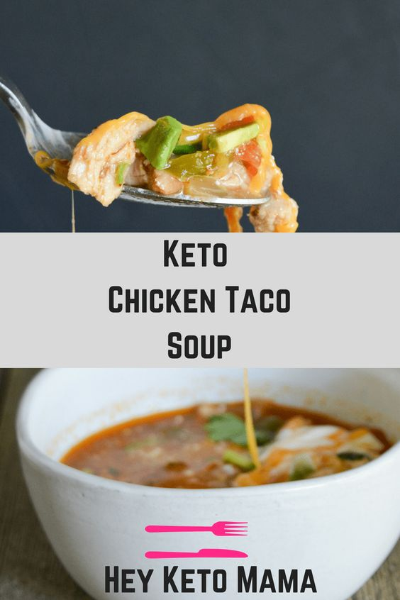Keto Chicken Taco Soup  #keto #chicken #taco #soup