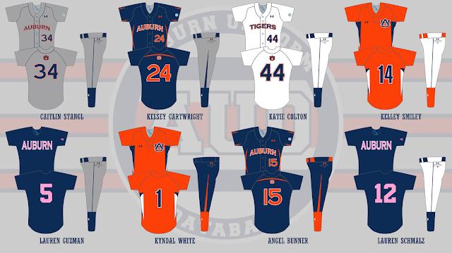 auburn softball uniform 2011