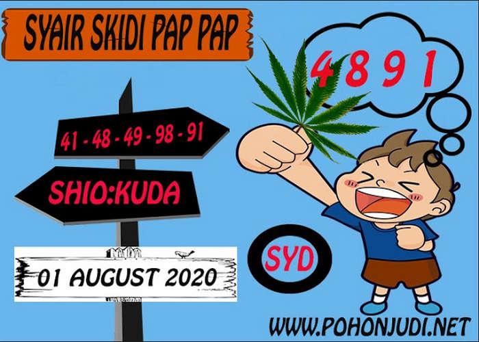 Kode syair Sydney Sabtu 1 Agustus 2020 107