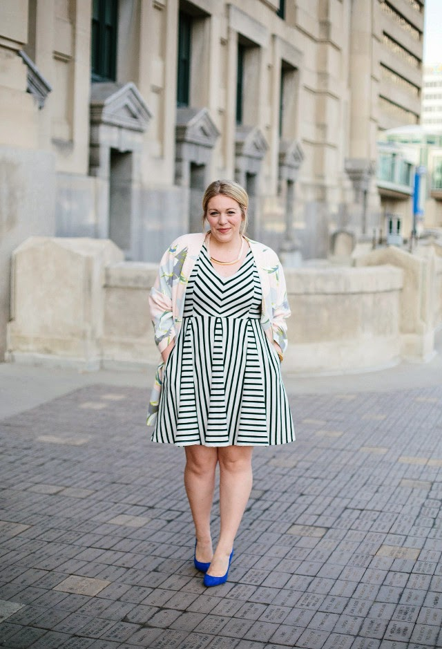 black and white stripe dress outfit