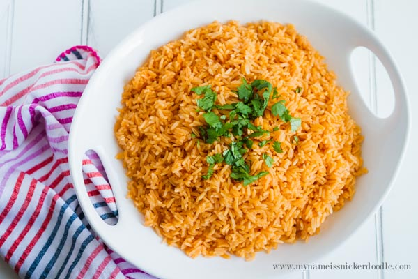 Make Mexican Rice at home!  Here is a yummy recipe that is super easy to make!  |  mynameissnickerdoodle.com