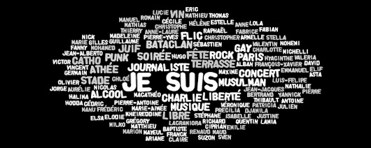 Affichage libre - Le blog d'Elodie Jauneau: Je suis Charlie, Paris, Bataclan... and so on...