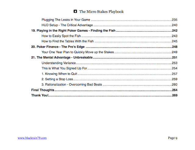 table of contents the micro stakes playbook by nathan williams blackrain79