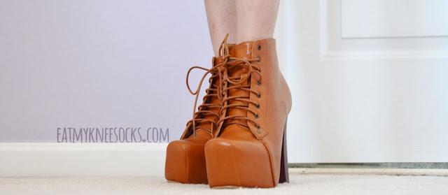 Milanoo Shoe Haul Review Platform Booties Black Wedges
