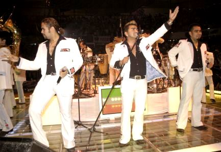 Foto de la banda El Recodo en el escenario