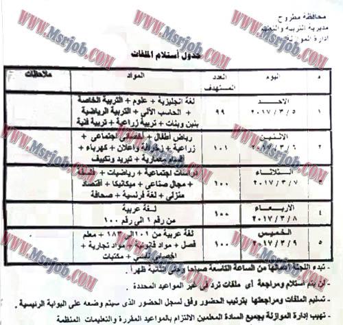 مسابقة 500 معلم مساعد منشور اليوم 24 / 2 / 2017 الاوراق ومواعيد التقديم