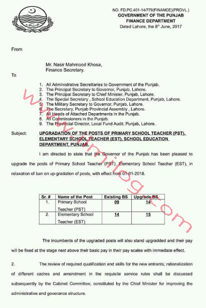 Scale-Upgradation-Notification-2017-of-Punjab-School-Teachers-PST-and-EST-Finance-Department