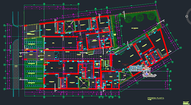 Residential social housing in AutoCAD