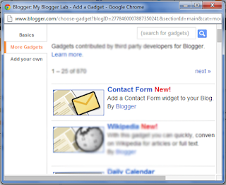 Cara Menambah Widget Contact Form di Sidebar Blogger