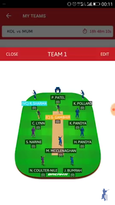dream11 fantasy cricket league match prediction