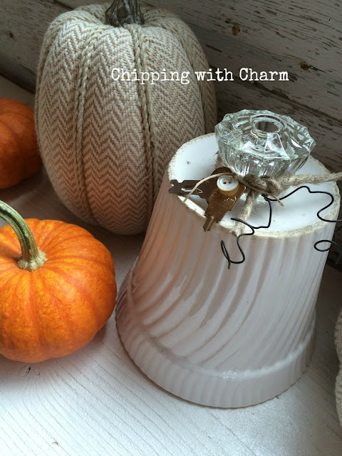 Chipping with Charm: Flower Pot, Repurposed Pumpkins www.chippingwithcharm.blogspot.com