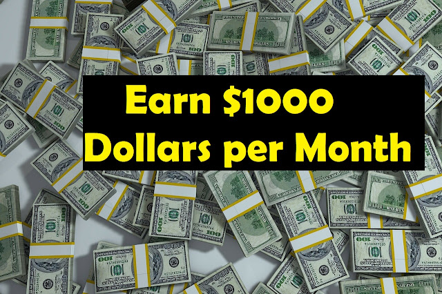 Better ways to earn 1000 dollars a month - rictasblog