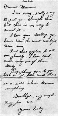 Carole Landis Suicide Note