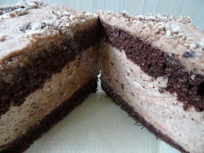 Ciasto z pianką czekoladowo rumową