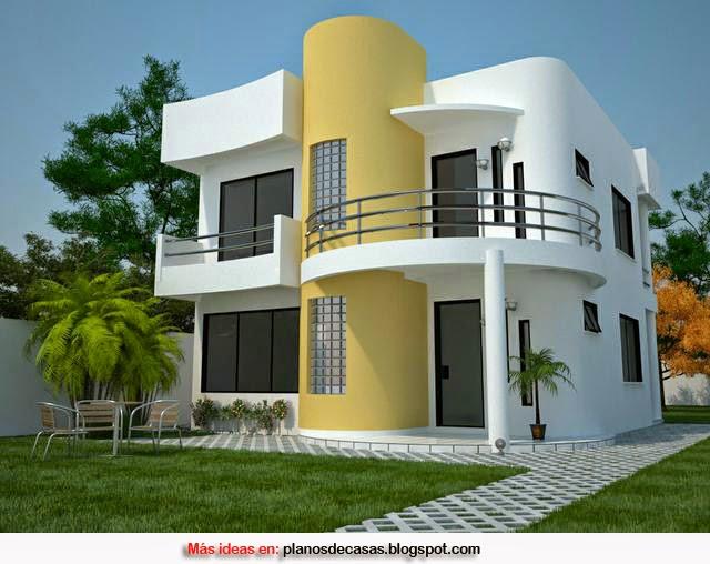 Plano de casa moderna de 161 m2 planos de casas gratis y for Fachadas modernas para casas de dos pisos