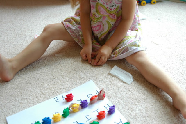 Alphabet fine motor learning game for doctor week preschool