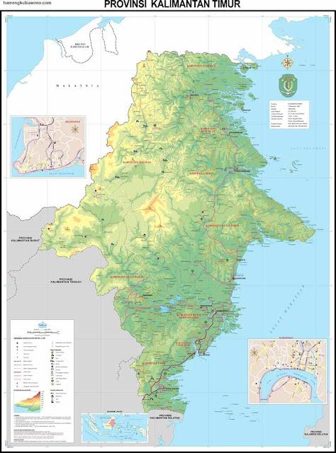 peta kalimantan timur lengkap / east kalimantan map