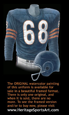 Chicago Bears 1958 uniform