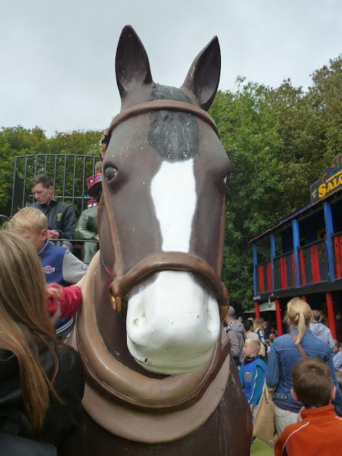 fibreglass horse cowboy town Blackgang chine