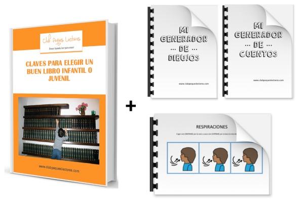 ebook claves elegir un buen libro infantil y juvenil, generador de cuentos y dibujos y pictogramas respiración y laberintos calma