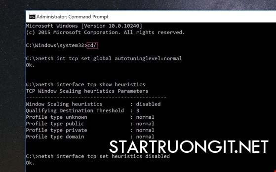 Tăng tốc độ truy cập Internet bằng cách sử dụng Command Prompt
