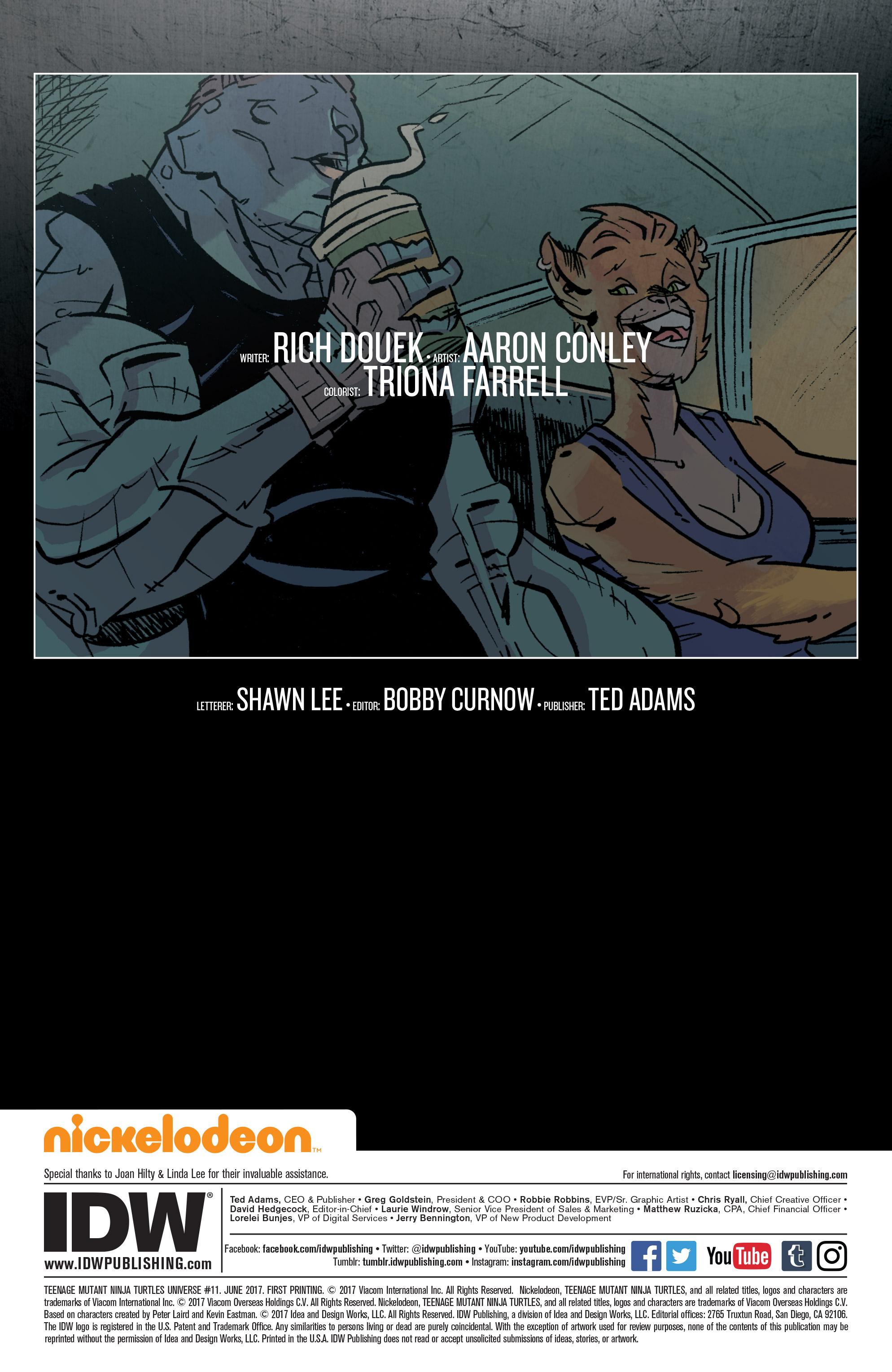 Read online Teenage Mutant Ninja Turtles Universe comic -  Issue #11 - 2