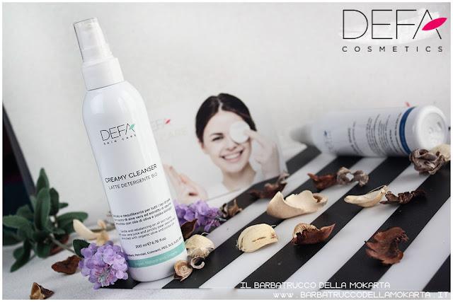 creamy cleanser latte detergente skin care bio cosmesi defa cosmetics