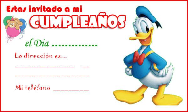 Tarjetas De Invitación Para Fiesta Infantil Imagui