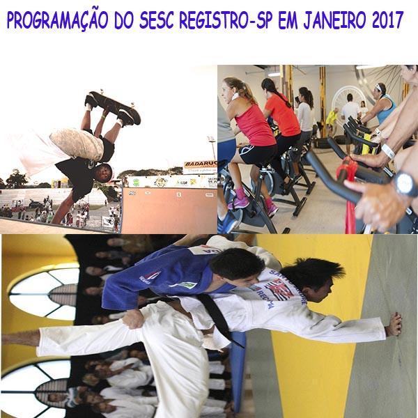 PROGRAMAÇÃO DO SESC REGISTRO-SP EM JANEIRO 2017