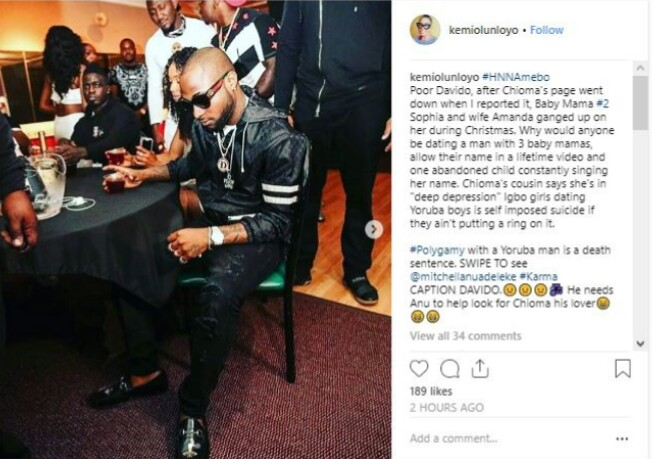 Chioma Break Up With Davido