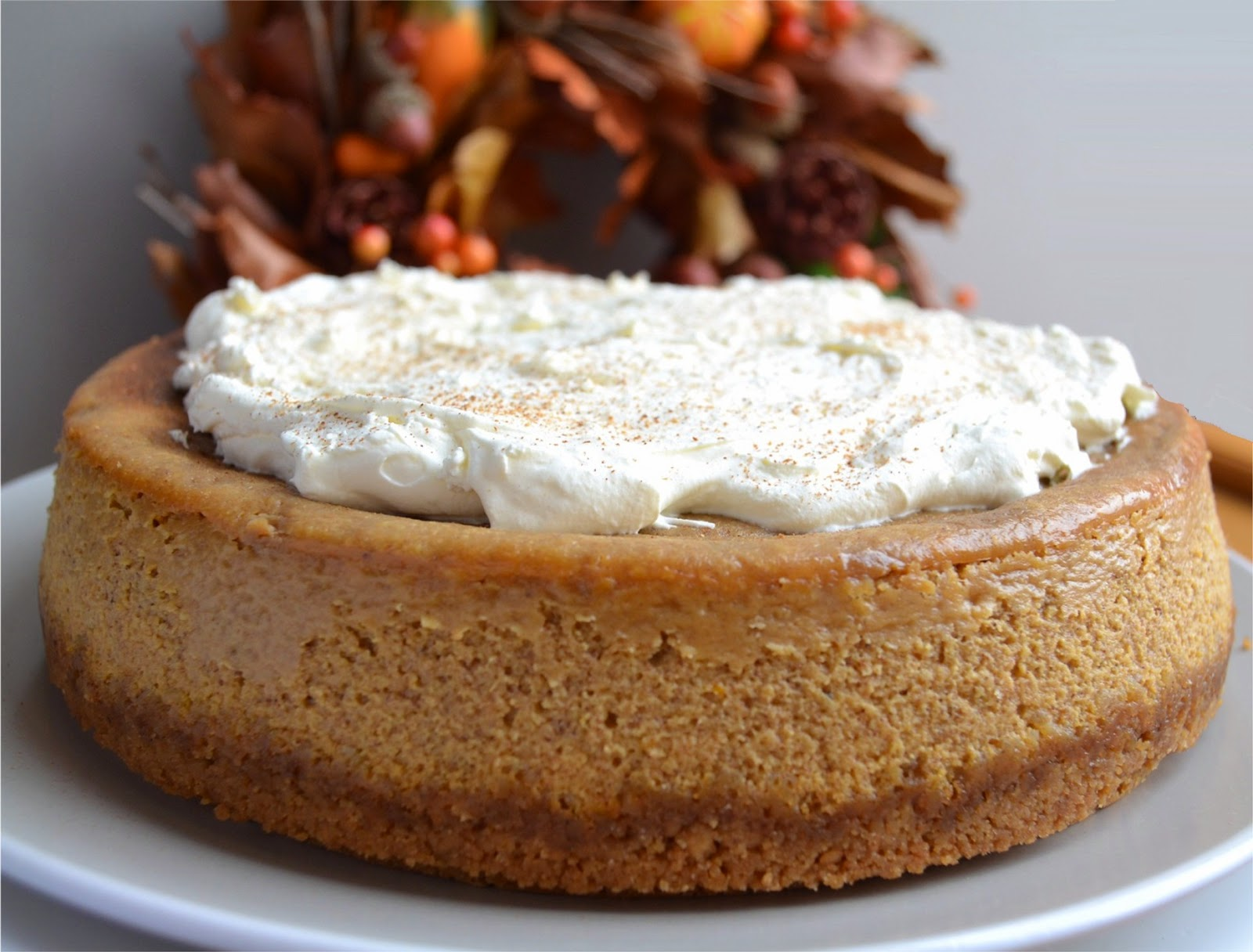 pumpkin cheesecake with spice and coffee