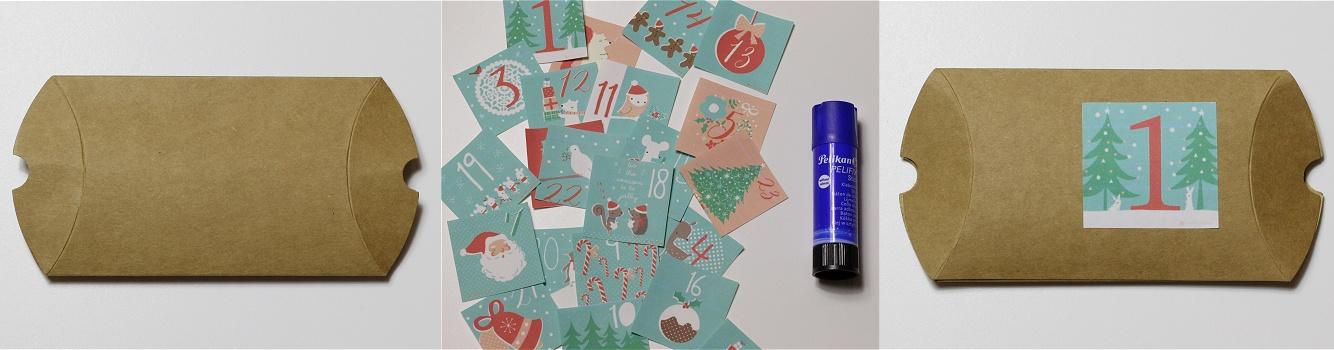 Adventskalender aus Geschenkschachteln Anleitung 2
