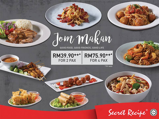 promosi jom makan secret recipe