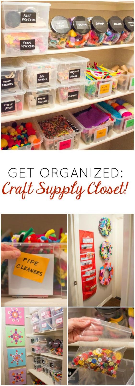 Love this organized craft supply closet!!