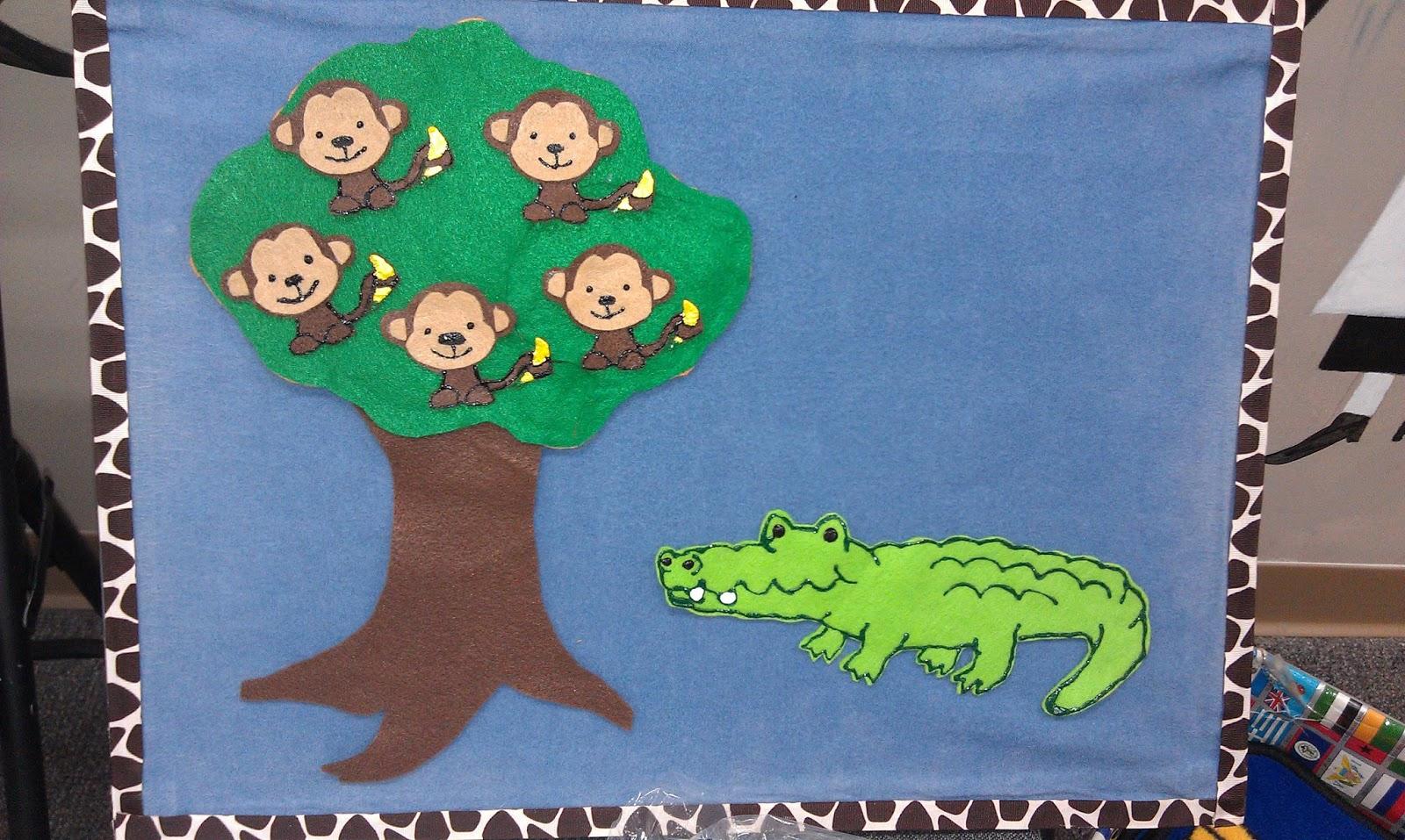 Five Little Monkeys Alligator
