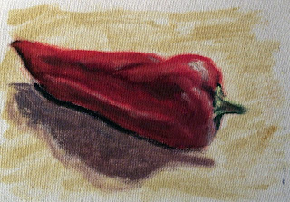 red pepper oil painting