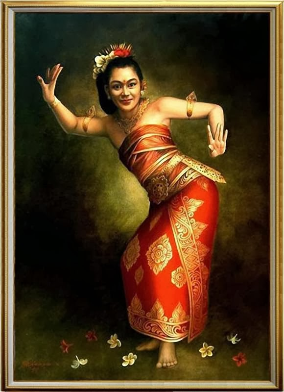 28 Karya Lukisan Tarian Bali yang Artistik - Seni Rupa